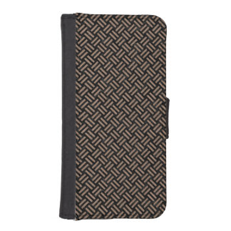 WOVEN2 BLACK MARBLE & BROWN COLORED PENCIL iPhone SE/5/5s WALLET CASE