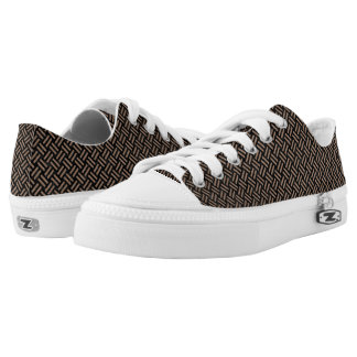WOVEN2 BLACK MARBLE & BROWN COLORED PENCIL Low-Top SNEAKERS