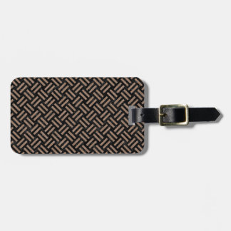 WOVEN2 BLACK MARBLE & BROWN COLORED PENCIL LUGGAGE TAG