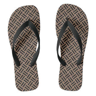WOVEN2 BLACK MARBLE & BROWN COLORED PENCIL (R) FLIP FLOPS