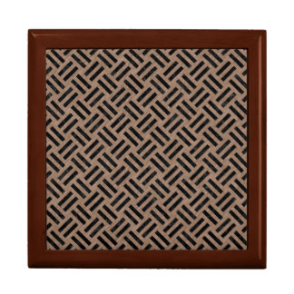 WOVEN2 BLACK MARBLE & BROWN COLORED PENCIL (R) GIFT BOX