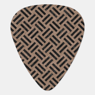 WOVEN2 BLACK MARBLE & BROWN COLORED PENCIL (R) GUITAR PICK