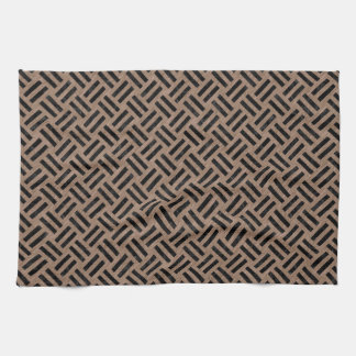 WOVEN2 BLACK MARBLE & BROWN COLORED PENCIL (R) KITCHEN TOWEL