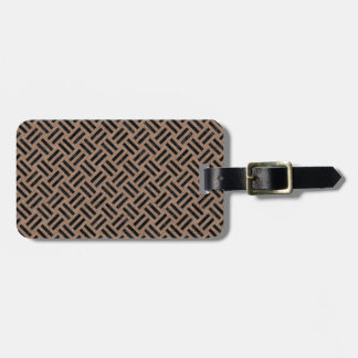 WOVEN2 BLACK MARBLE & BROWN COLORED PENCIL (R) LUGGAGE TAG