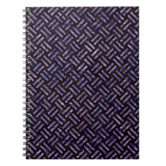 WOVEN2 BLACK MARBLE & PURPLE MARBLE NOTEBOOK