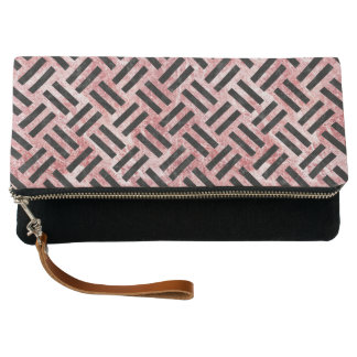 WOVEN2 BLACK MARBLE & RED & WHITE MARBLE (R) CLUTCH