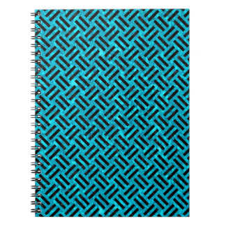 WOVEN2 BLACK MARBLE & TURQUOISE MARBLE (R) SPIRAL NOTEBOOK