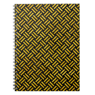 WOVEN2 BLACK MARBLE & YELLOW MARBLE NOTEBOOK