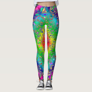 Woven abstract Rustic colors Leggings