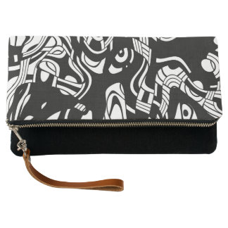 Woven Abstraction Clutch
