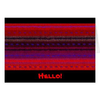 Woven Bands Hello Card