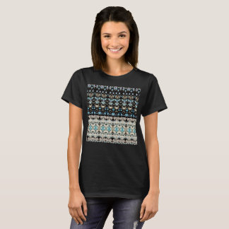 Woven Blanket Knit Style Native Spiritual  T Shirt