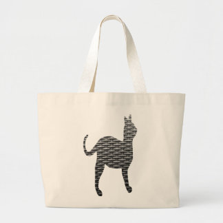 Woven Cat Large Tote Bag
