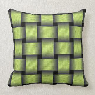 Woven Greenery Throw Pillow