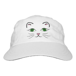 Woven Hat - Kitty Face