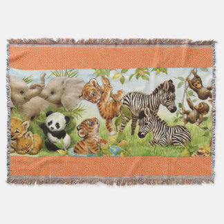 Woven Jungle Baby Custom Throw