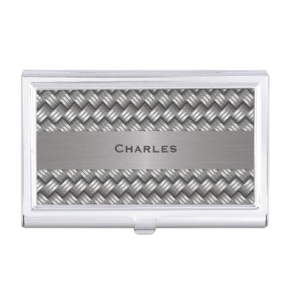 Woven Metal Look Custom Business Card Case