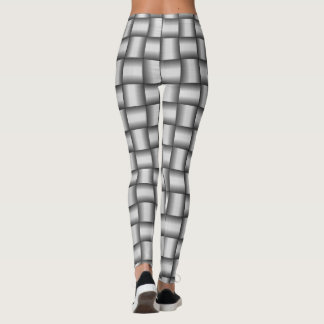 Woven Metal Pattern Leggings