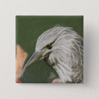 Woven Night Heron Button
