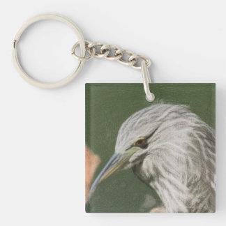 Woven Night Heron Keychain