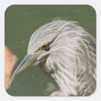 Woven Night Heron Stickers