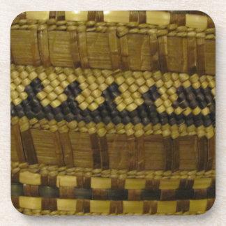 Woven NW Coast Indian Fiber Art Coaster