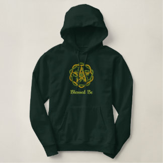 Woven Pentacle Embroidered Hoodie
