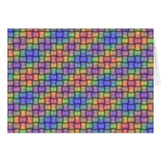 Woven Rainbow - Matched Card, Stamp & Envelope Set Card
