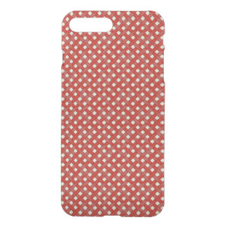 Woven Rattan Pattern Red on Custom Cream iPhone 8 Plus/7 Plus Case
