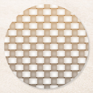 Woven Round Paper Coaster