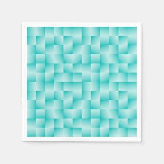 Woven Satin Ribbons - Robin's Egg Blue Paper Napkin