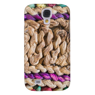 Woven straw and colorful