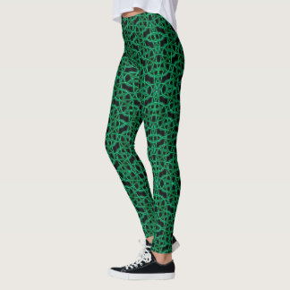Woven Strings Teal Leggings