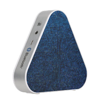 woven structure blue bluetooth speaker