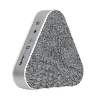 woven structure metal silver bluetooth speaker