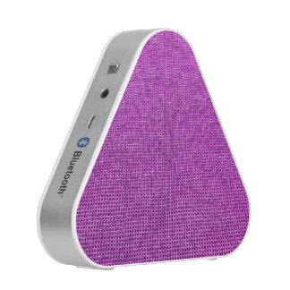 woven structure neon pink bluetooth speaker