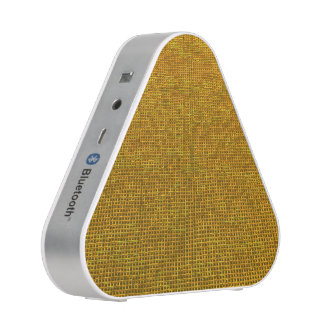 woven structure yellow bluetooth speaker