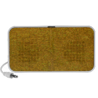 woven structure yellow laptop speakers