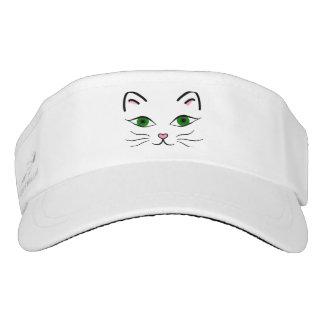 Woven Visor - Kitty Face