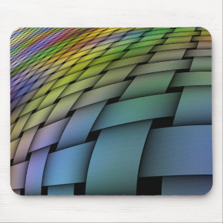 Woven Warped Rainbow Mousepad