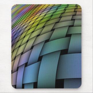 Woven Warped Rainbow Mousepad