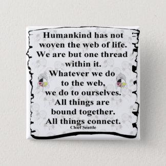 Woven web 2 inch square button