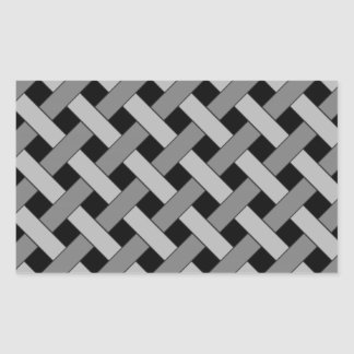 Woven/Wicker-look Pattern in Black and Grays