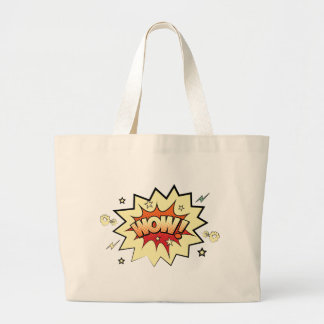 wow2 large tote bag