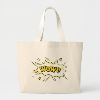 wow3 large tote bag
