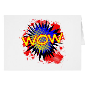 Wow Comic Exclamation Card