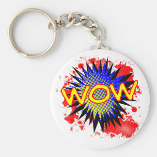 Wow Comic Exclamation Keychain