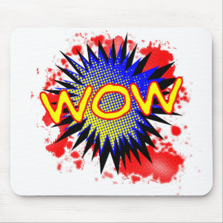 Wow Comic Exclamation Mouse Pad