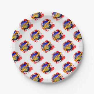 Wow Comic Exclamation Paper Plate