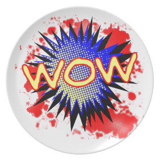 Wow Comic Exclamation Plate